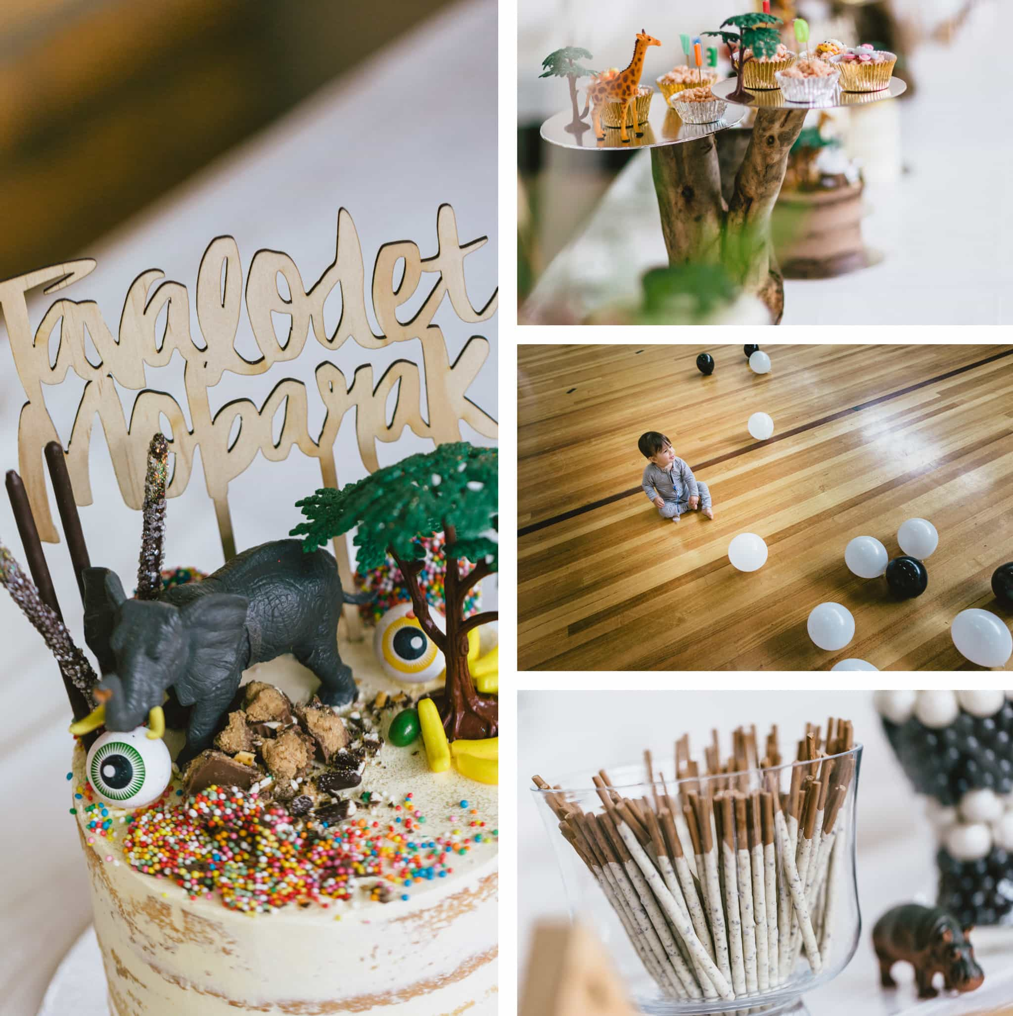 Animal theme birthday cake - beautiful photos