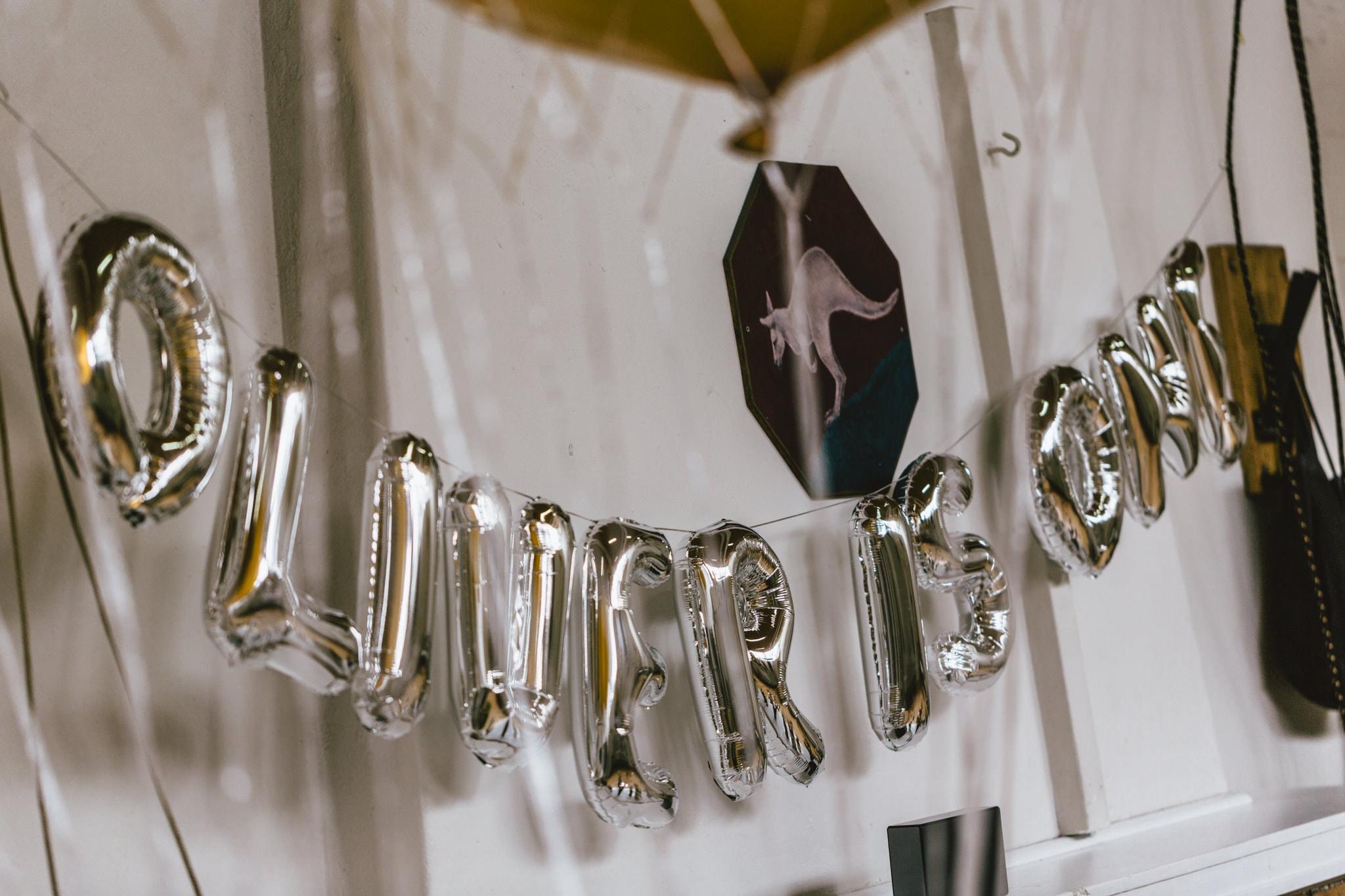 Birthday balloons Oliver