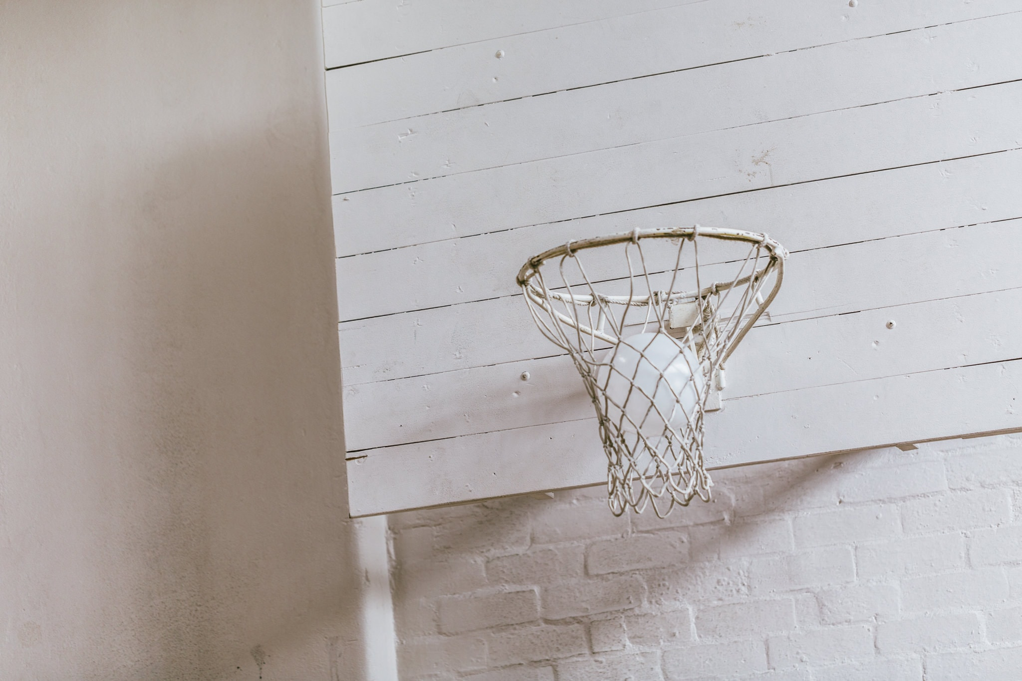white basketball hoop