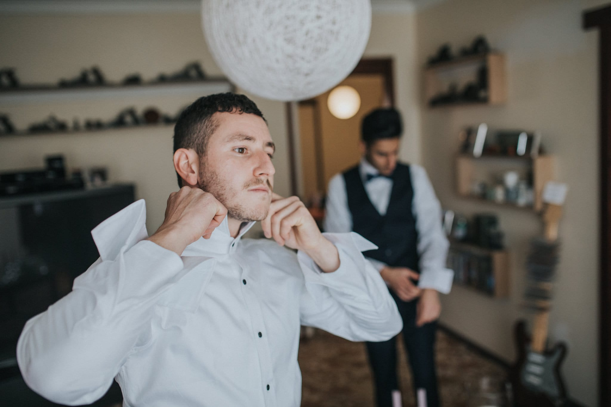 groom getting ready - bow tie