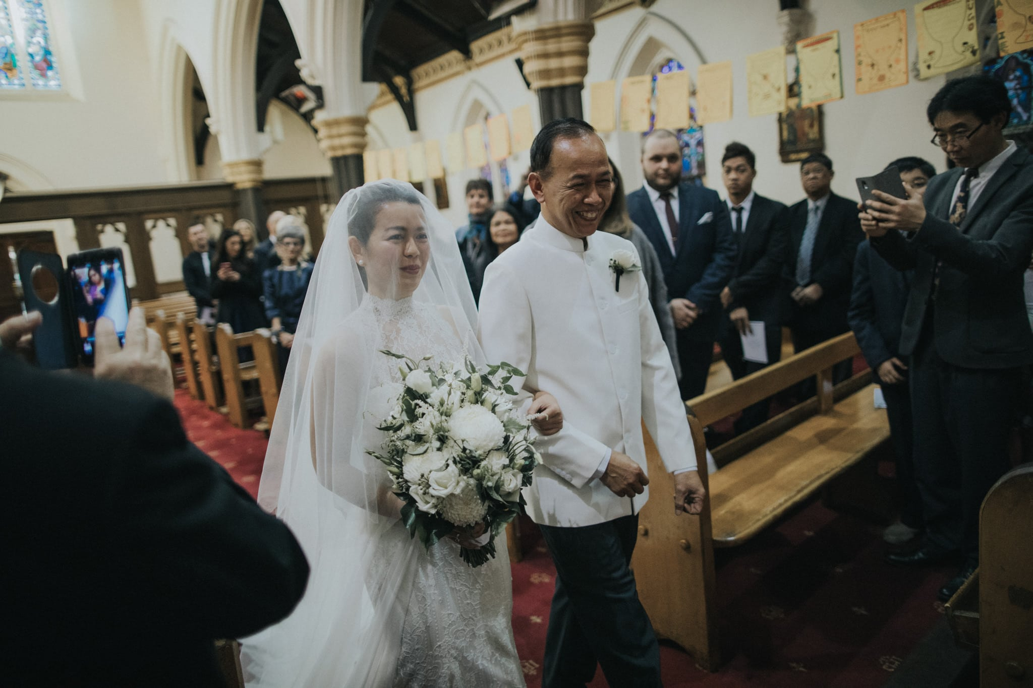 walking down the aisle - wedding photographer in hawthorn captures melbourne wedding in a photojournalistic style