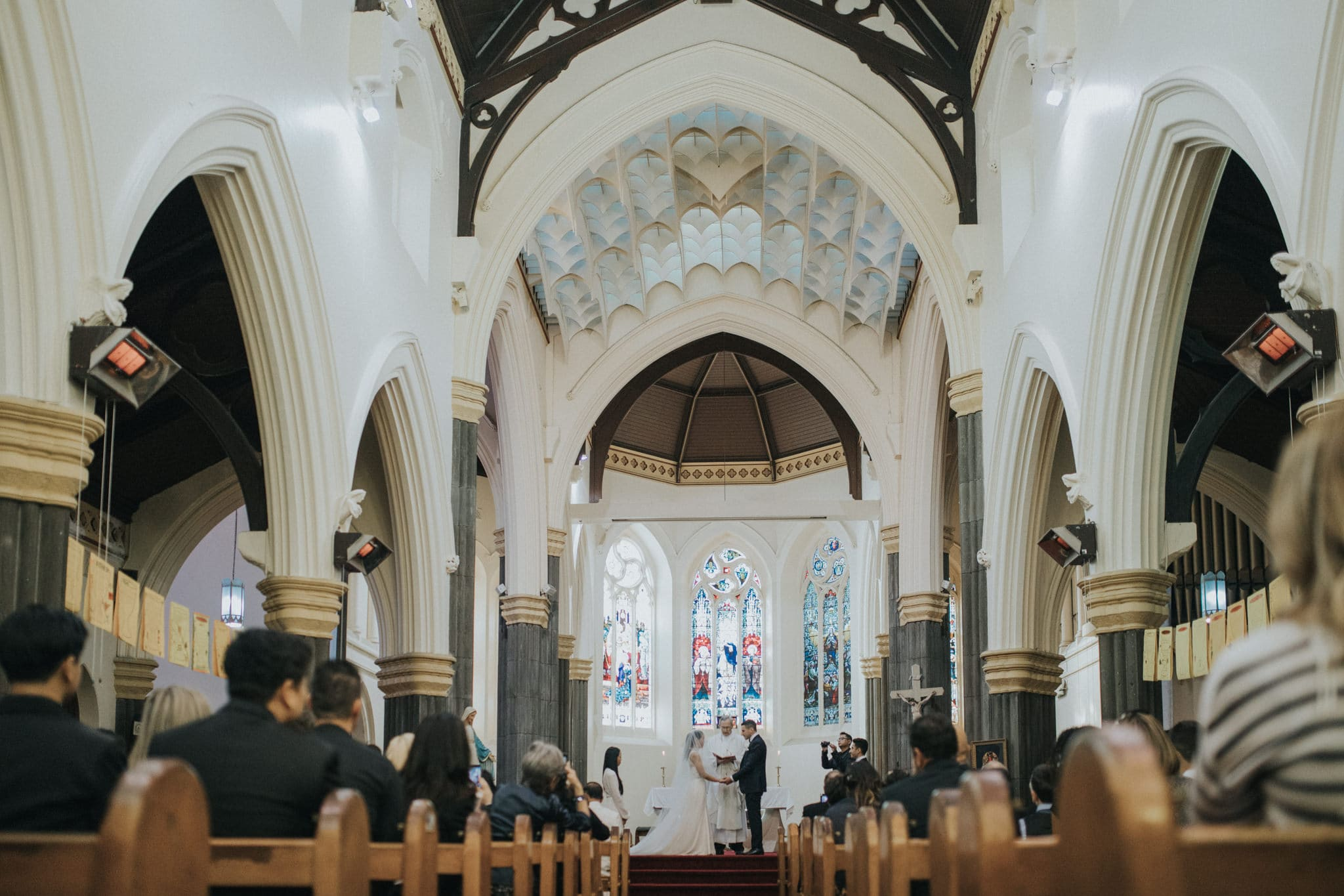 Wedding photographer at Immaculate Conception Catholic Church - Hawthorn