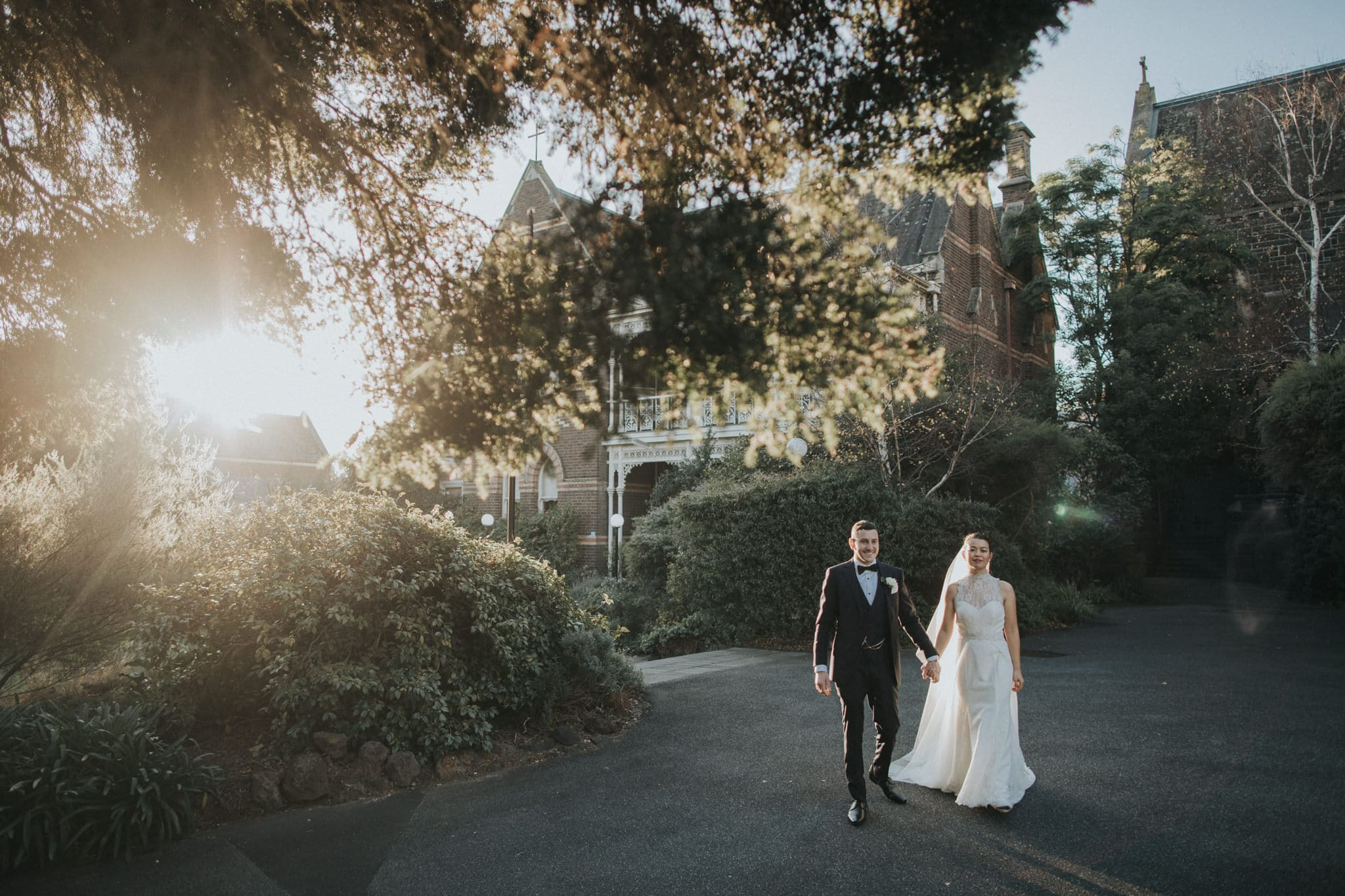 best hawthorn wedding photojournalist in Melbourne - sunset wedding photoshoot