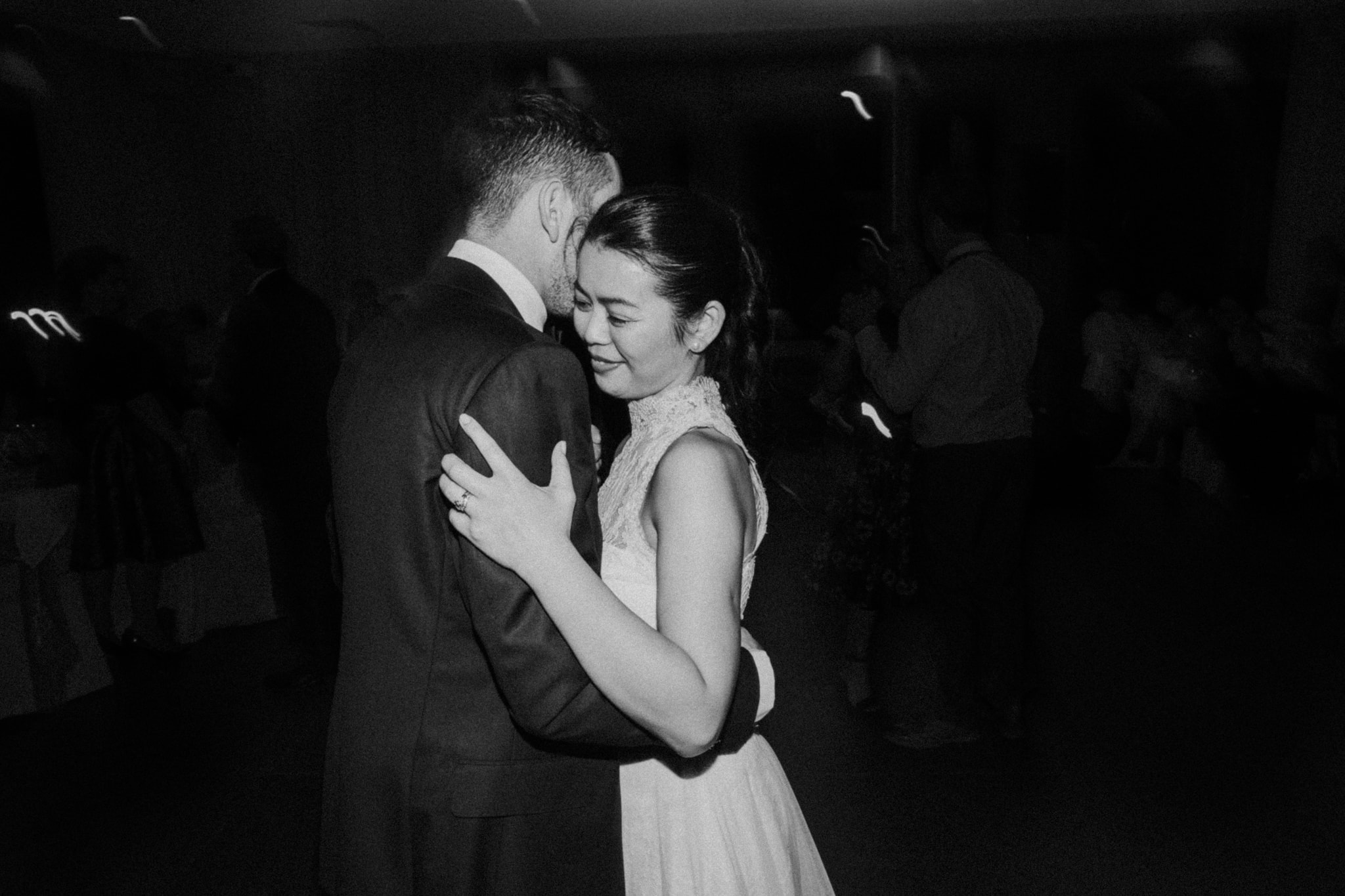 bridal waltz photos - black and white - emotion