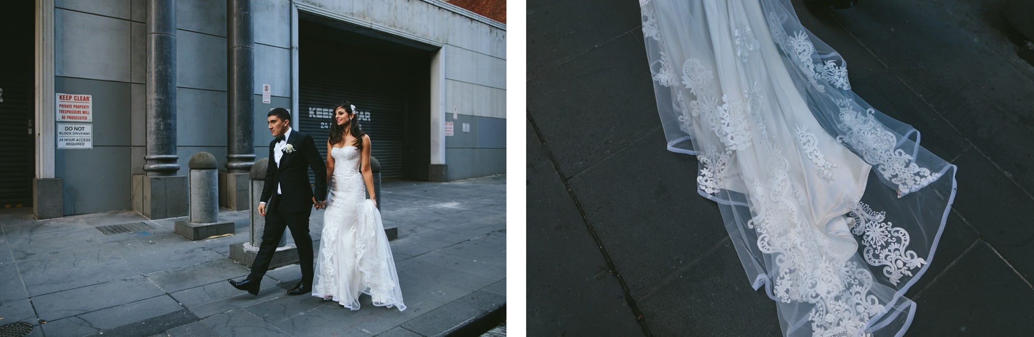 urban city wedding photography in Melbourne - rad photos - cool shots
