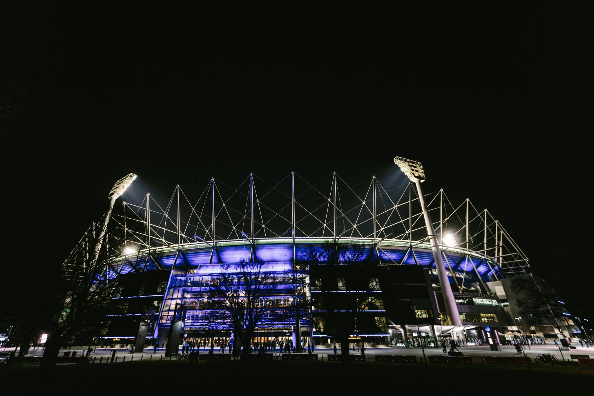 Melbourne MCG at night