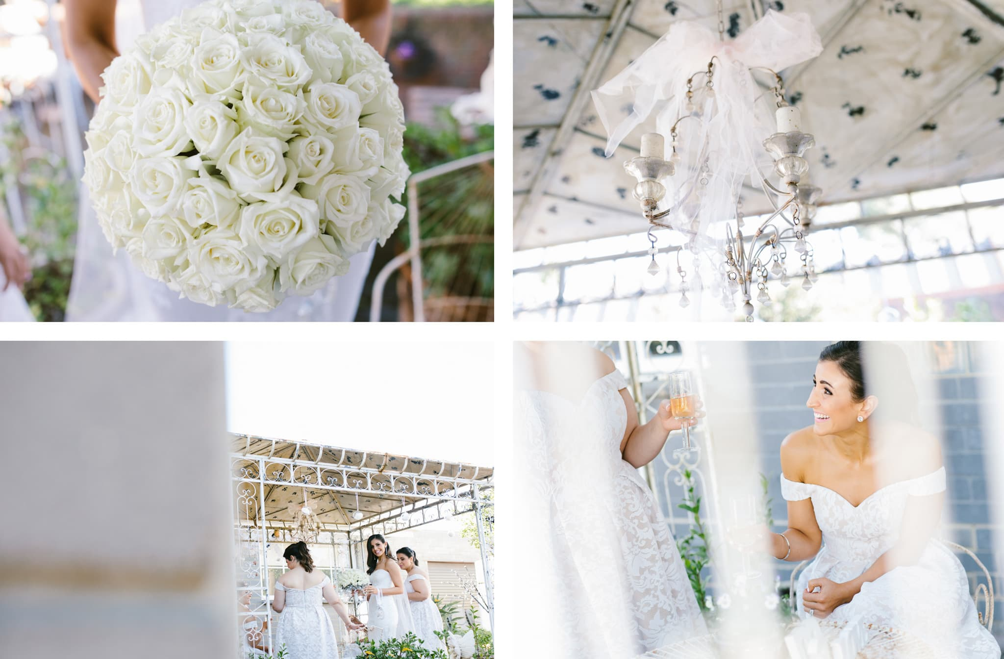 garden wedding photographer in melbourne - diy wedding in your own home - pergola - bride and bridesmaids