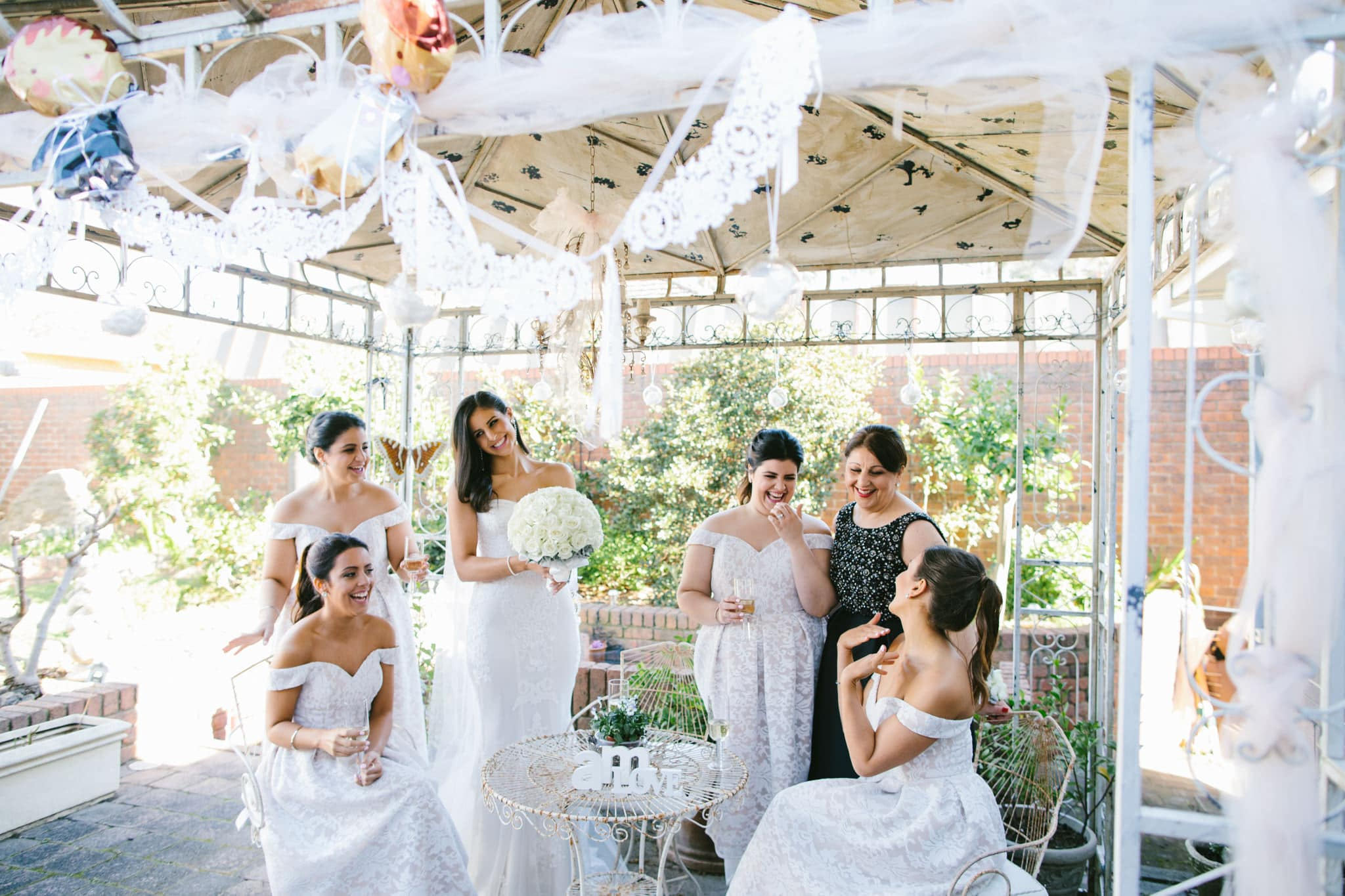 pergola garden wedding photographer