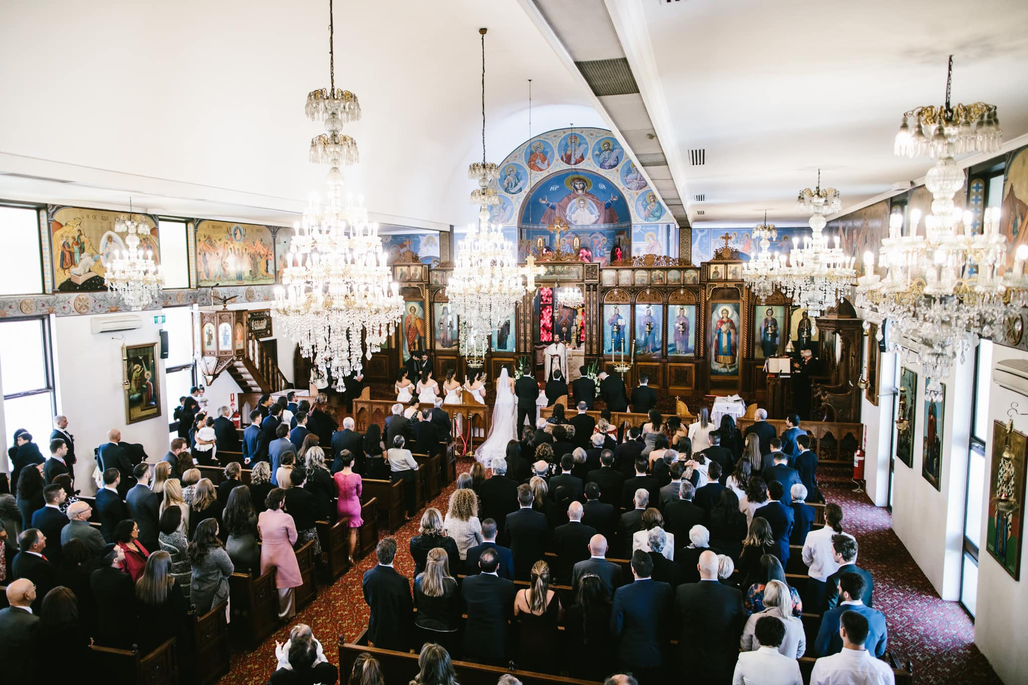 wedding ceremony photos in melbourne - greek orthodox church