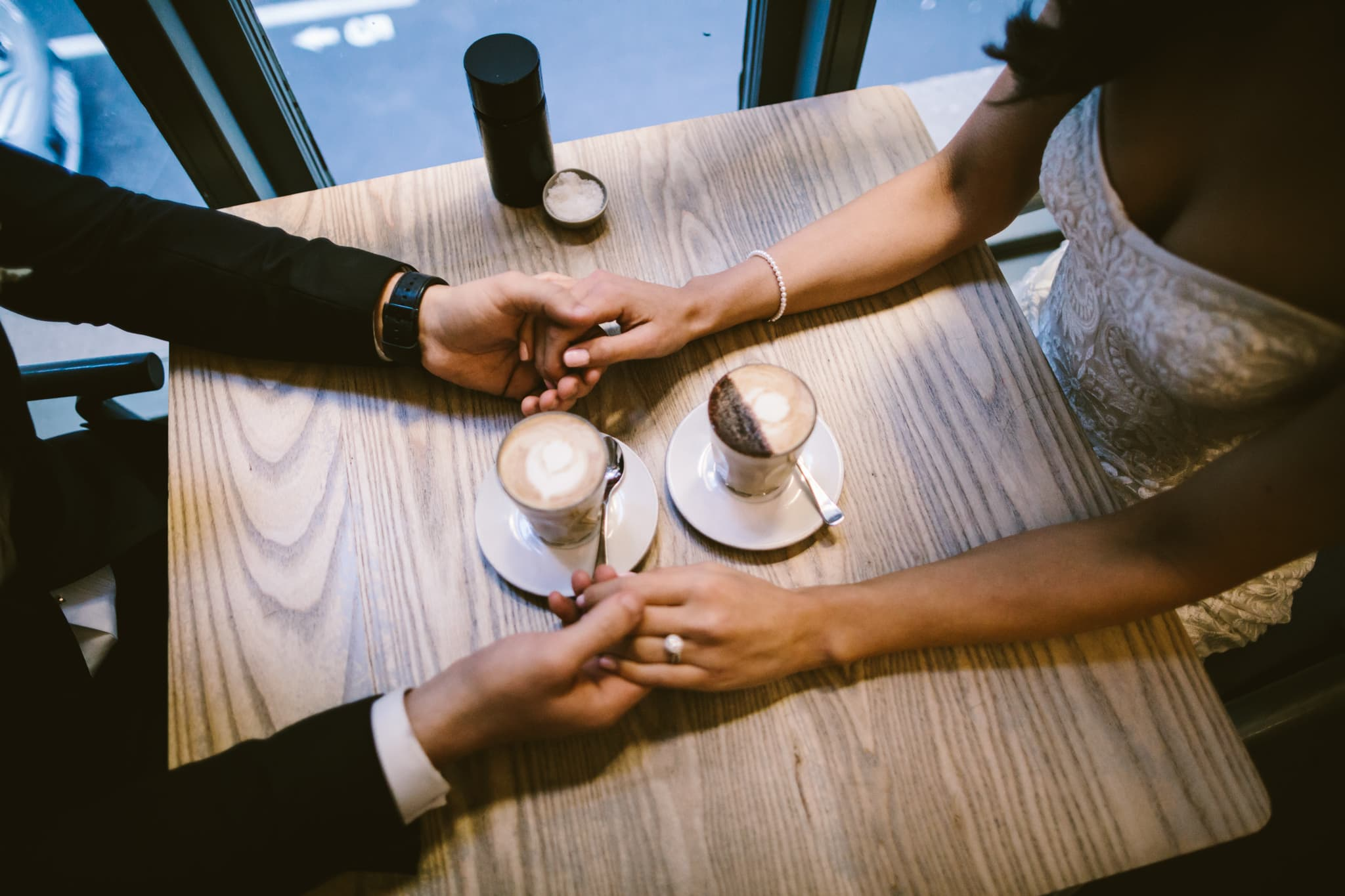 wedding photography with coffee at higher ground - relaxed and fun wedding photographer from australia