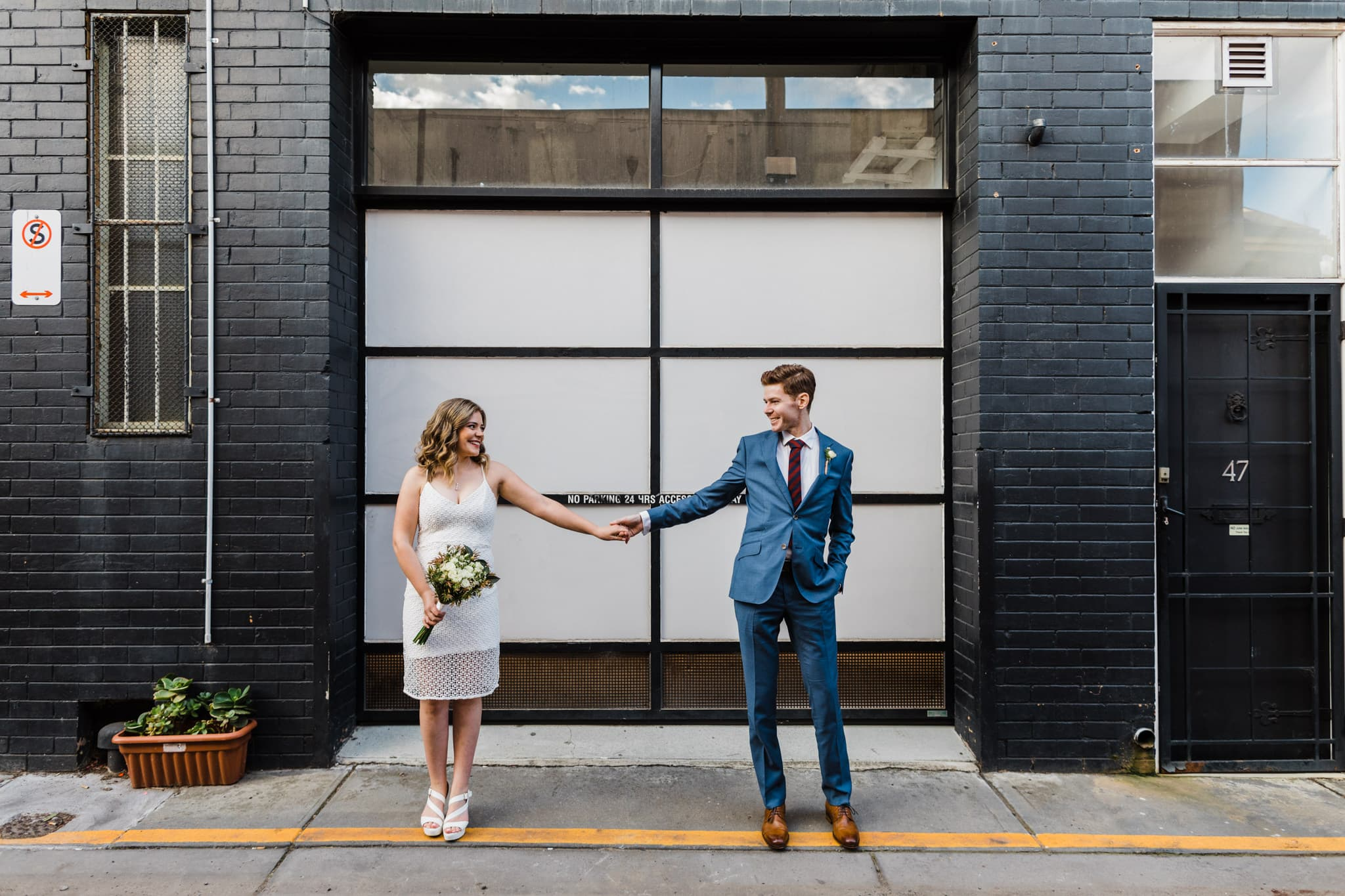 urban style wedding photos in melbourne