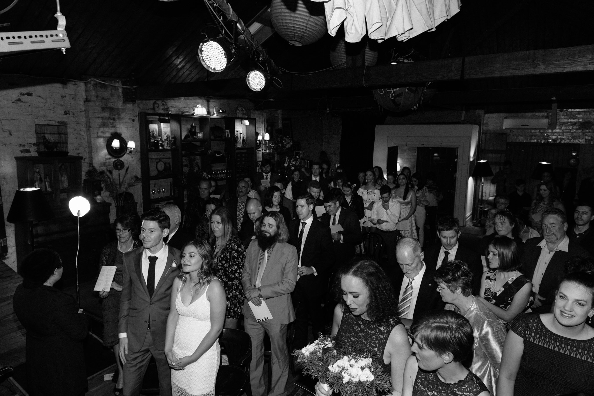 wedding guests at ceremony - candid wedding documentation in melbourne