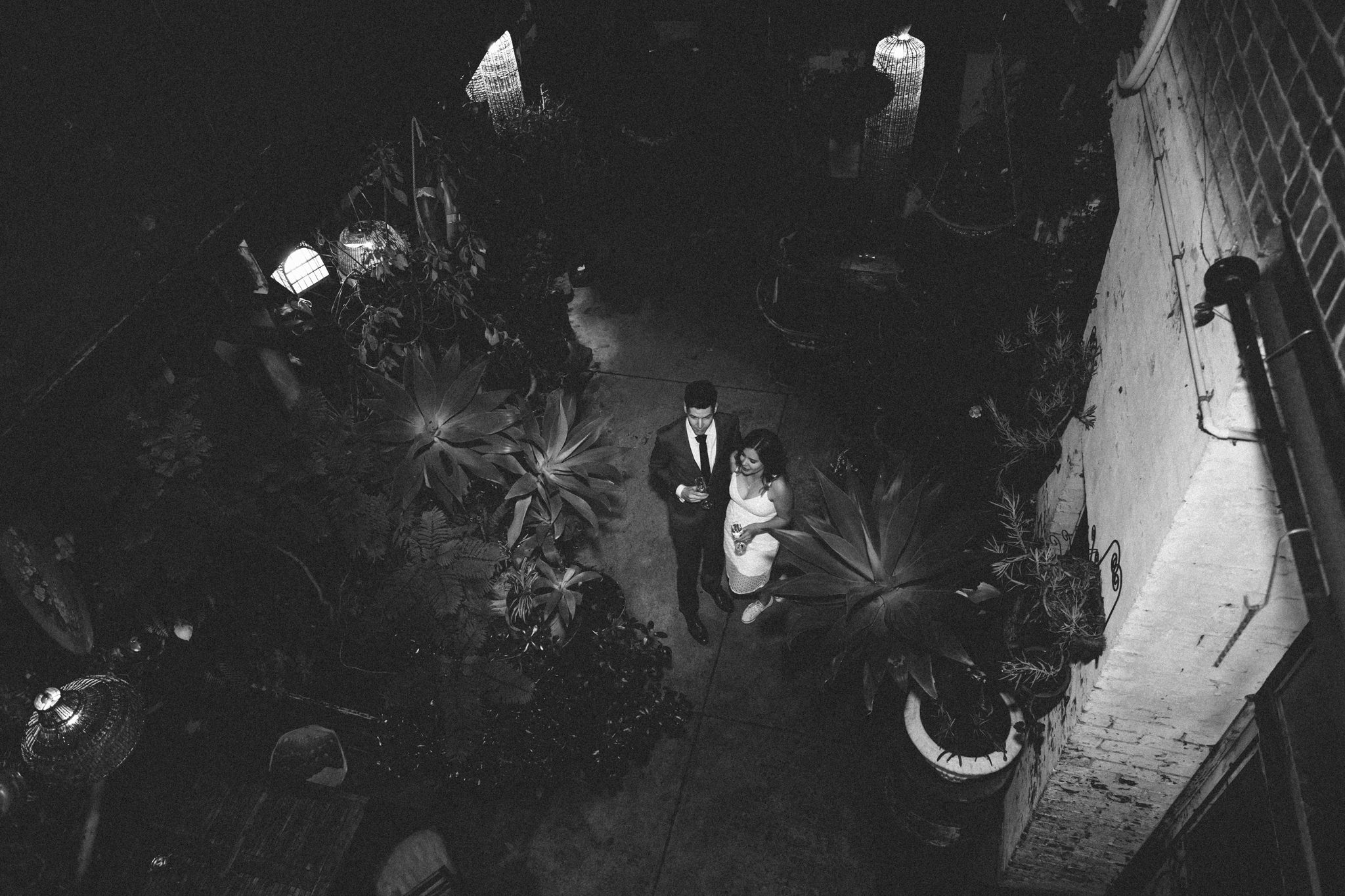 in love - bride and groom in nighttime photoshoot