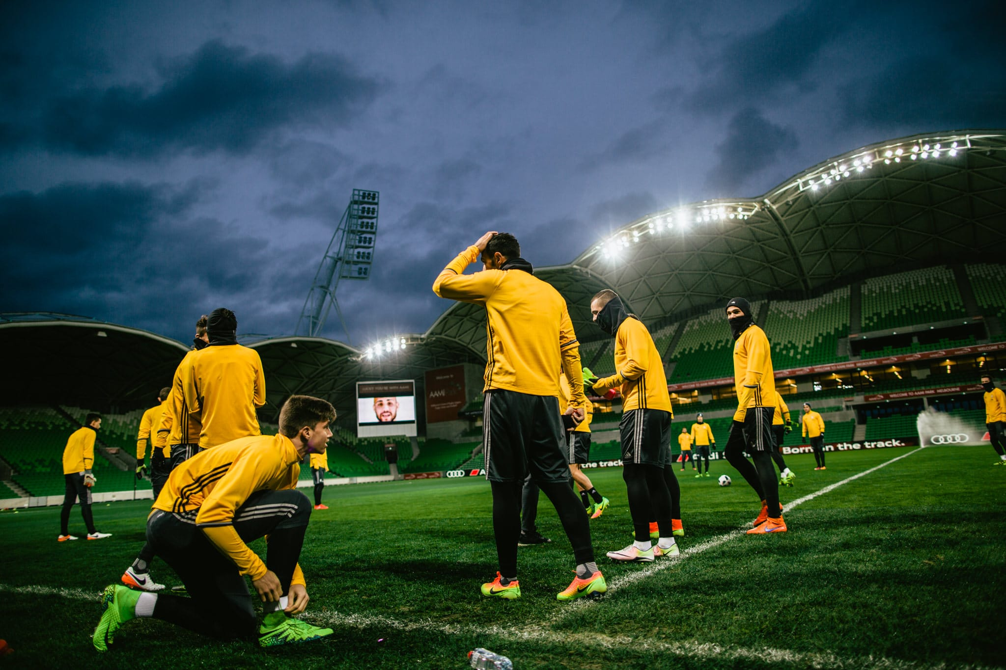 juventus warm up - aami park stadium event photography