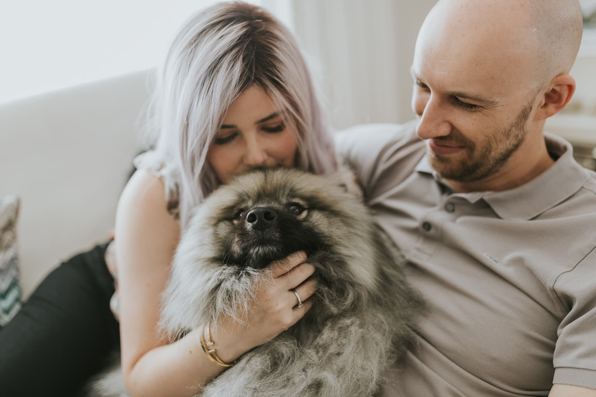 photoshoot with dog and cat in melbourne - cute couple photos - creative and candid