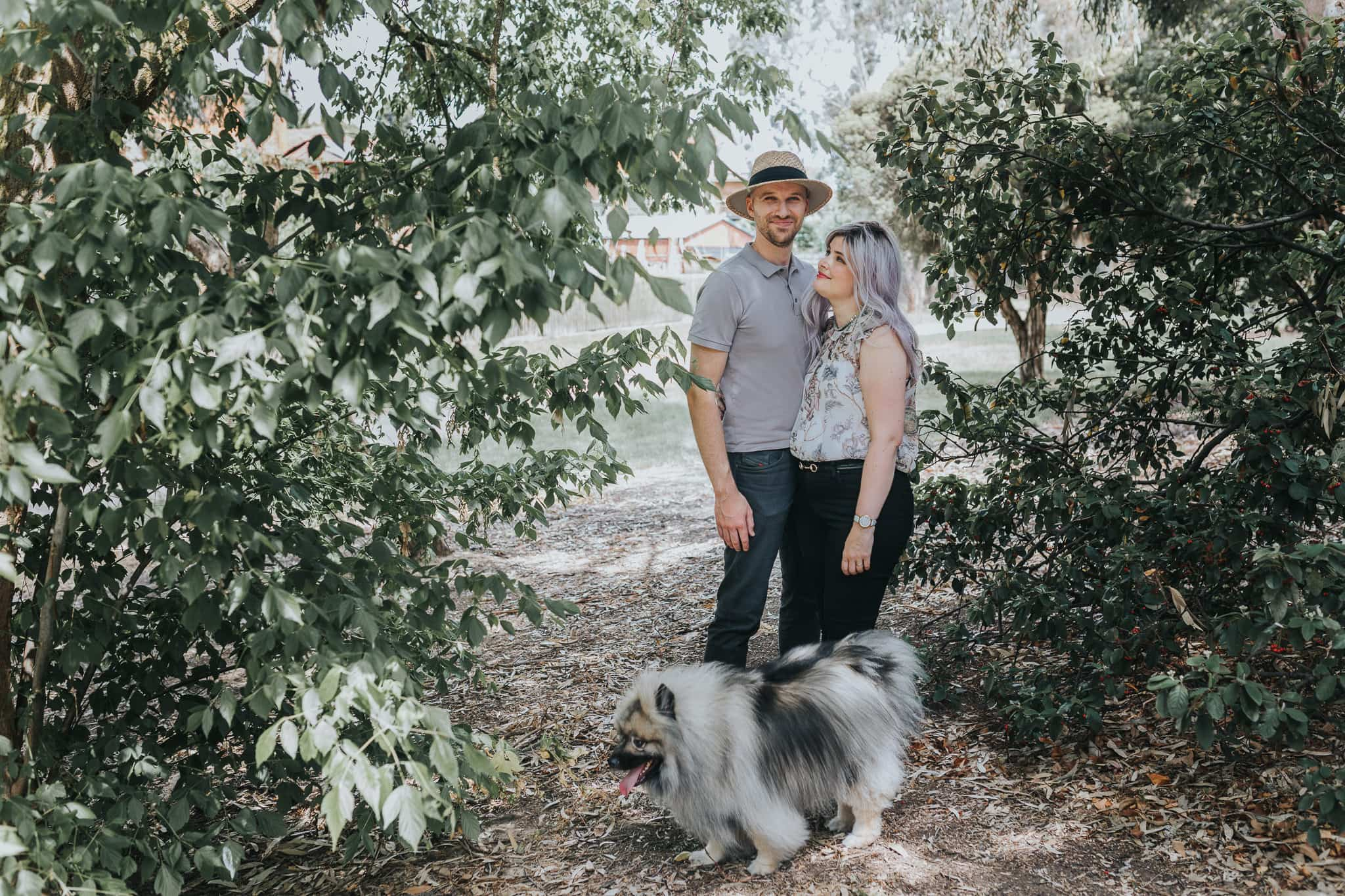 documenting couples - couples photographer in melbourne incorporates pets and furry friends in photoshoots