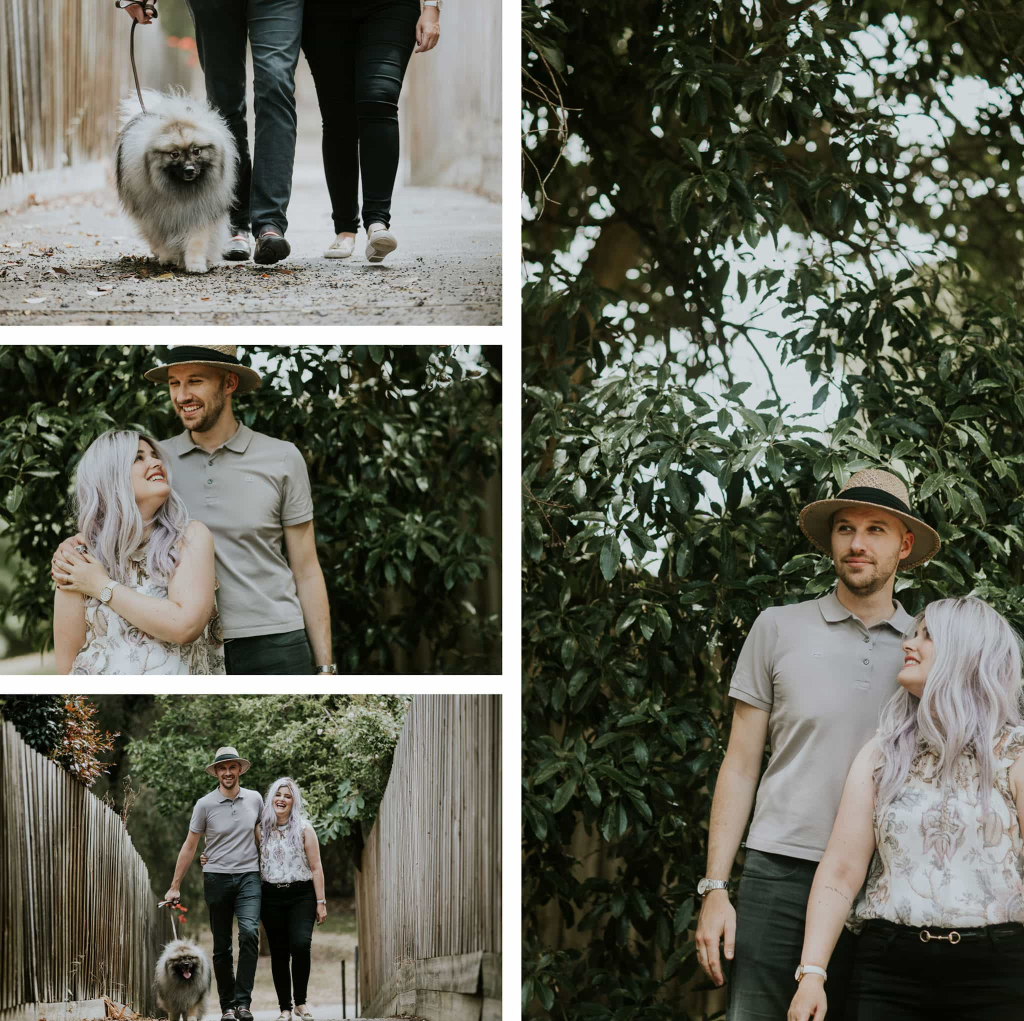 dog photos in local park - couples photoshoot