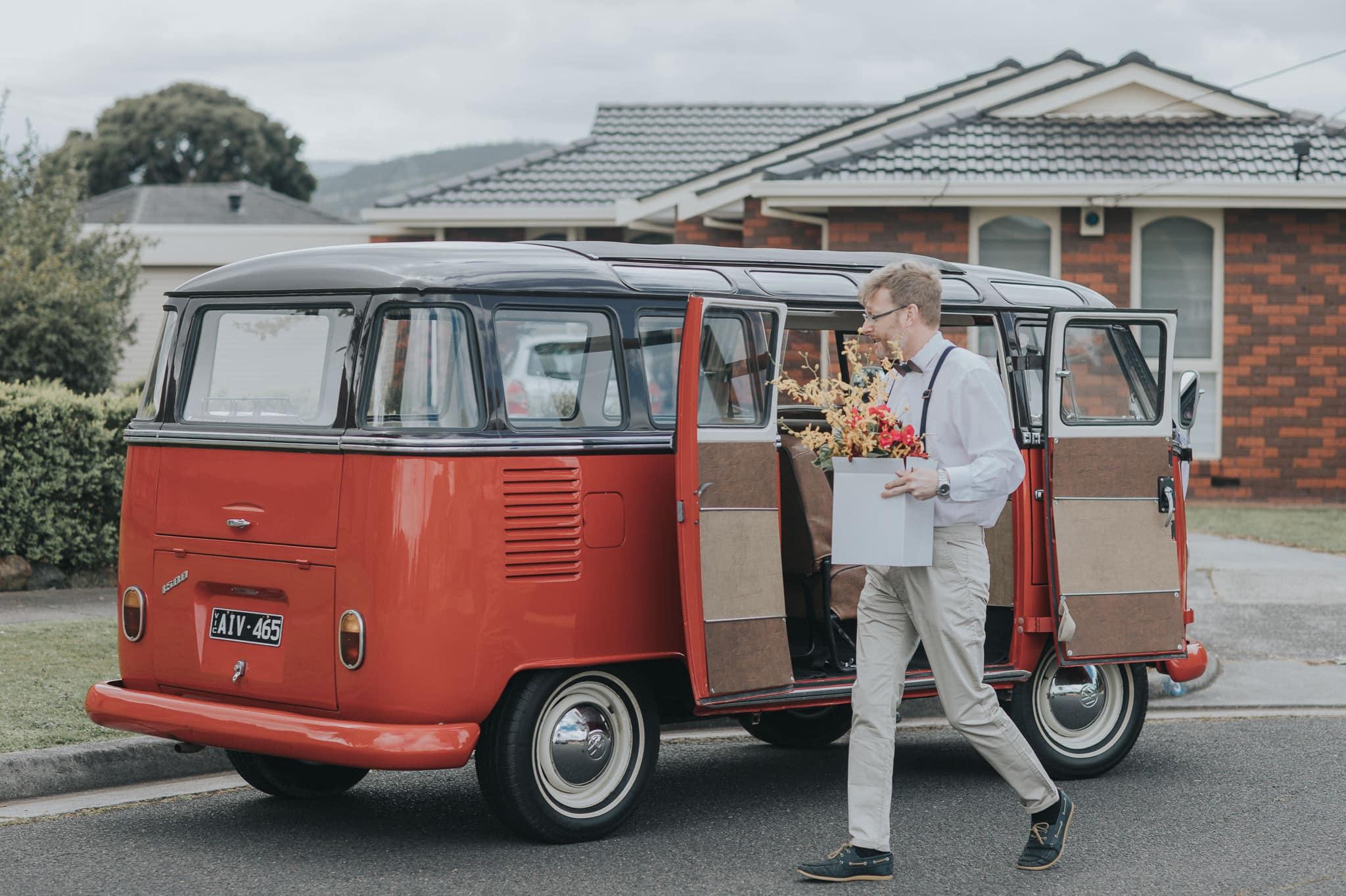 Volkswagen Van Bulli at Weddings in Melbourne