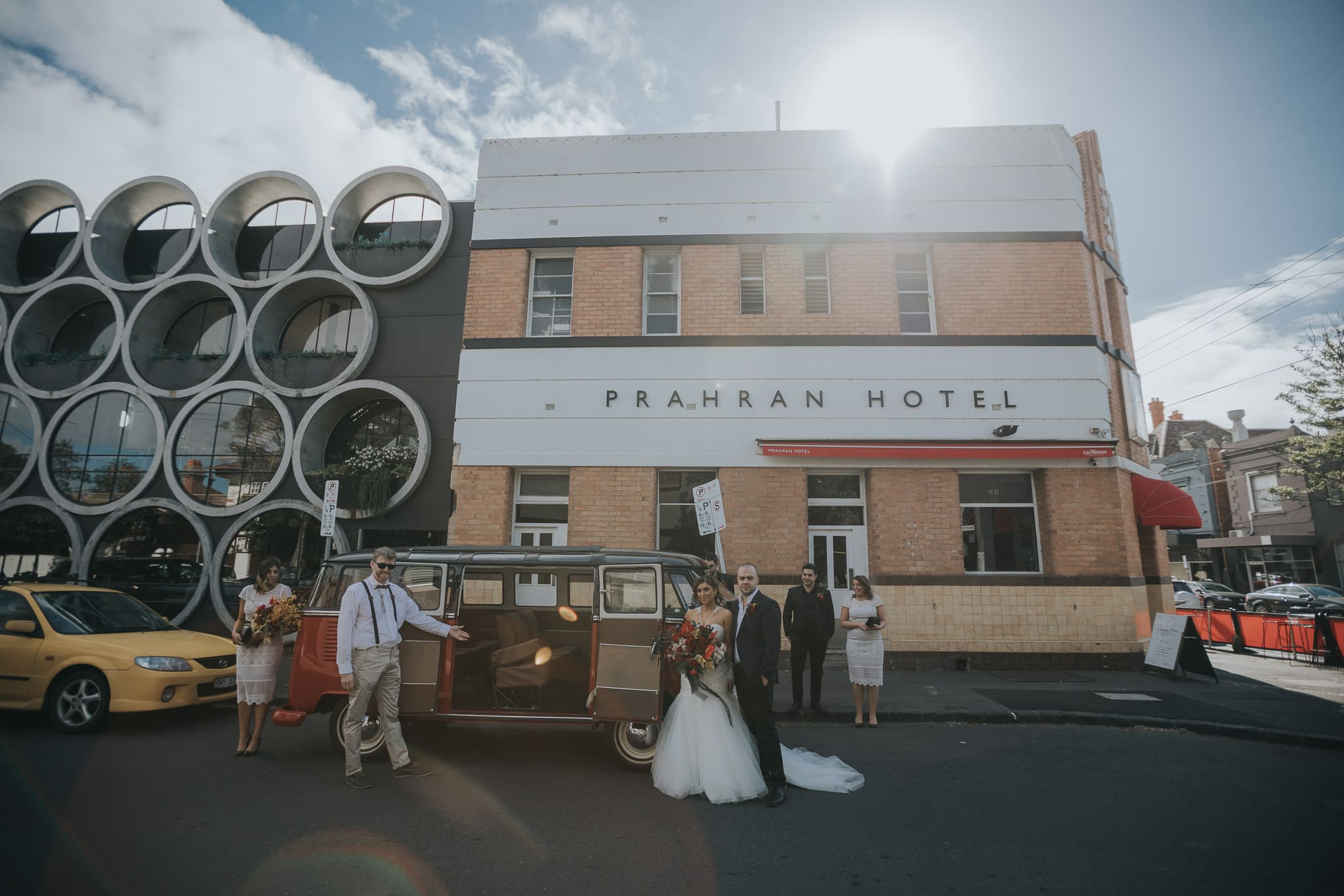 Sun setting at wedding at Praharan Hotel - Best wedding photography in Melbourne