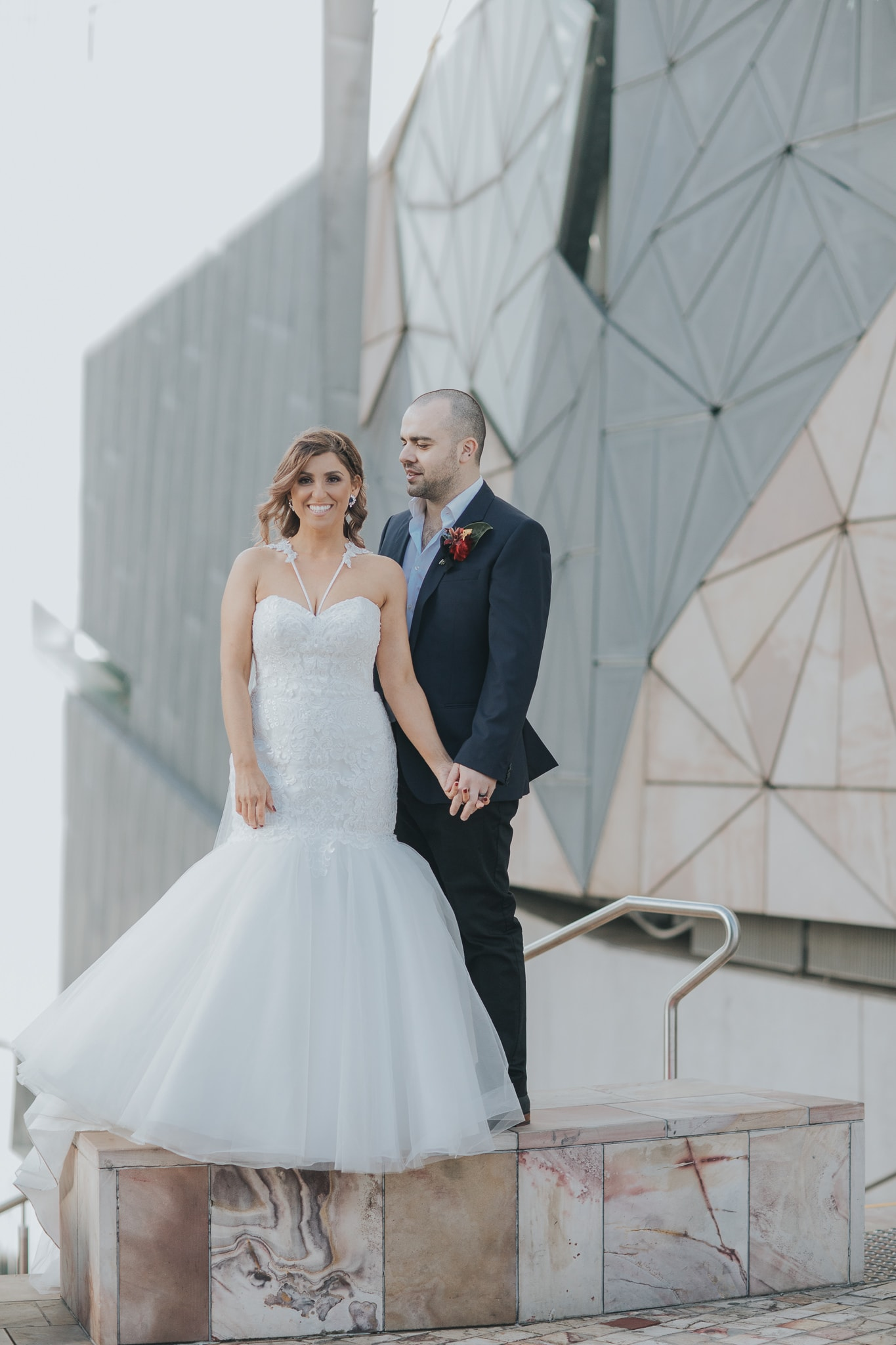 Fedearion Square Wedding Couple - Photographer in Melbourne