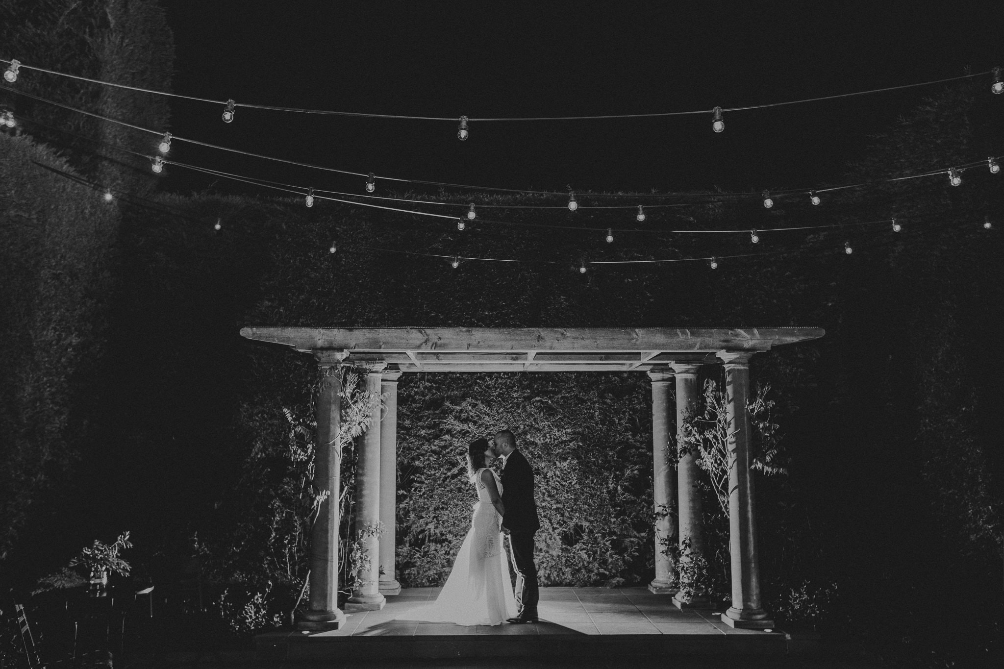 Nighttime wedding photography in Melbourne