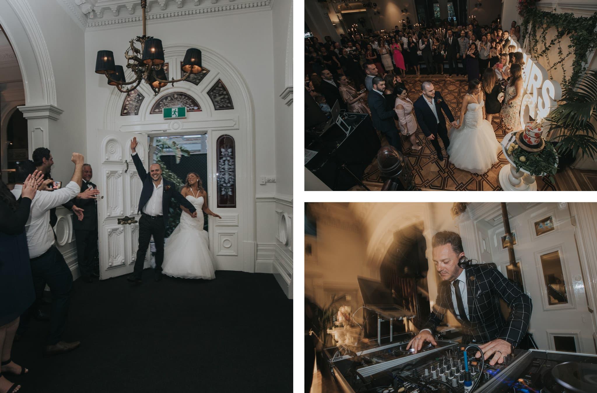 Wedding entrance at Quat Quatta - Melbourne