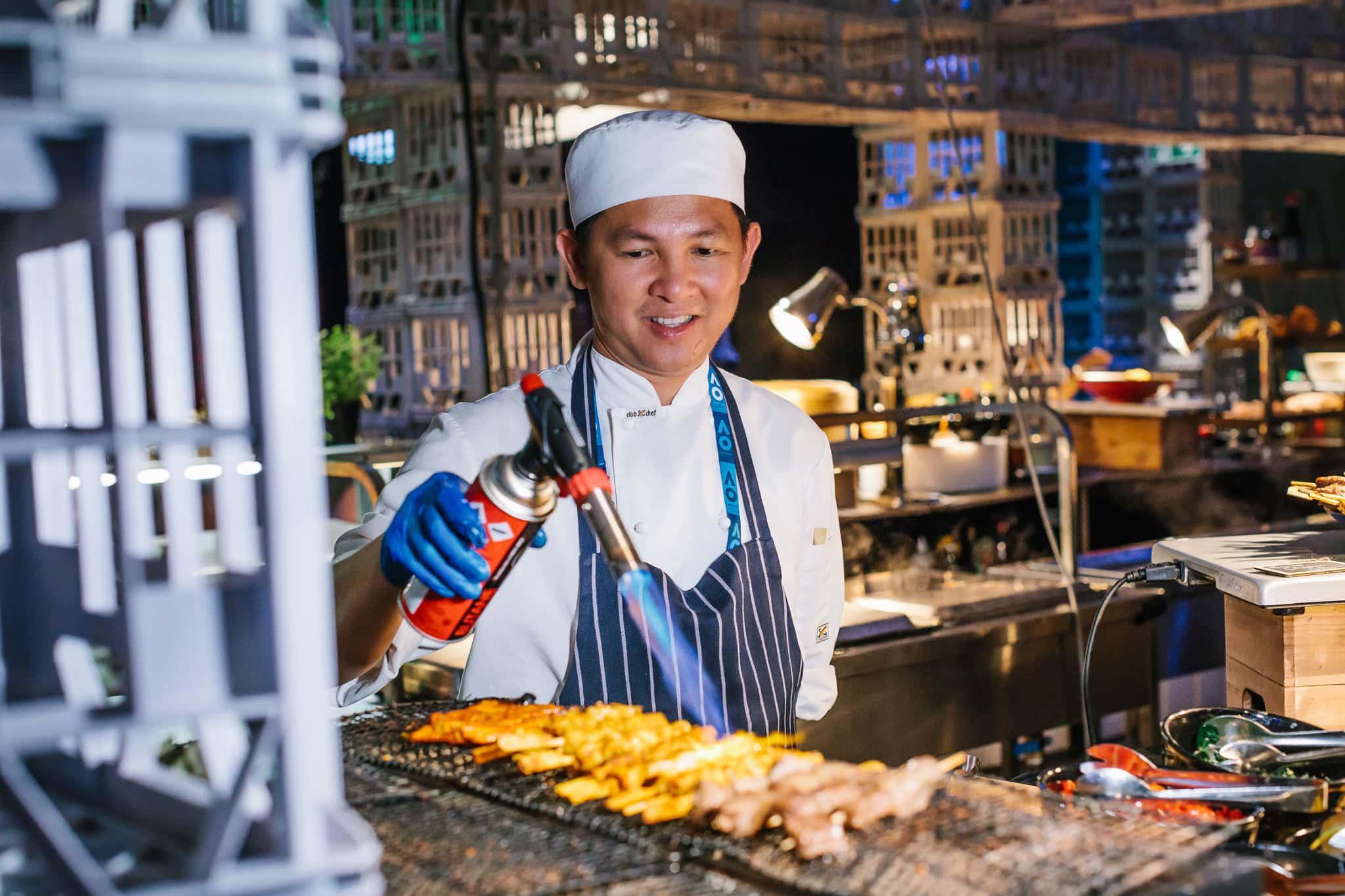 preparing food at events