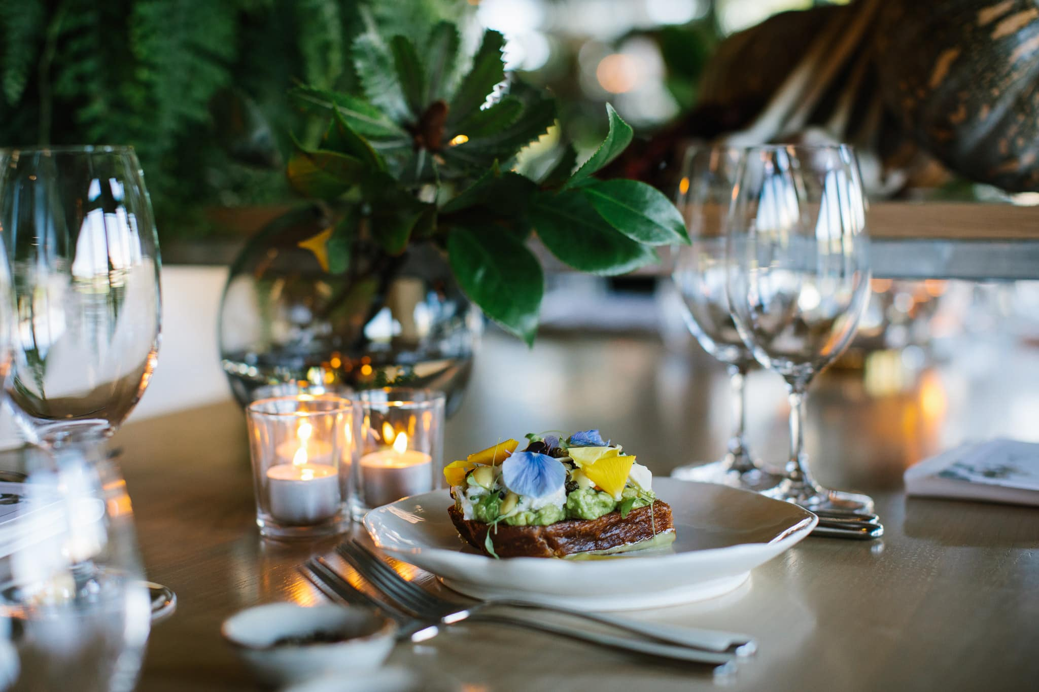 luxury dining - event photos of the best food