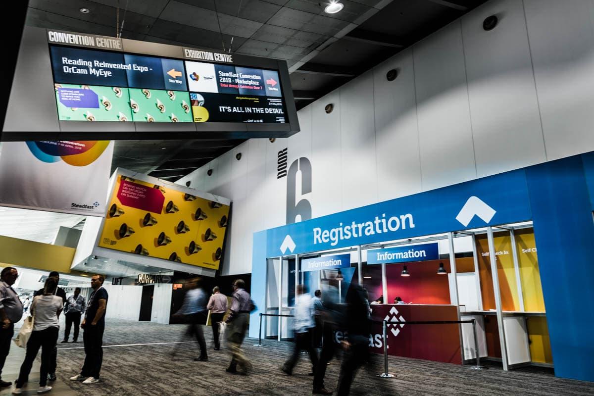 registration at Melbourne Convention Centre - Exhibition Photography Melbourne