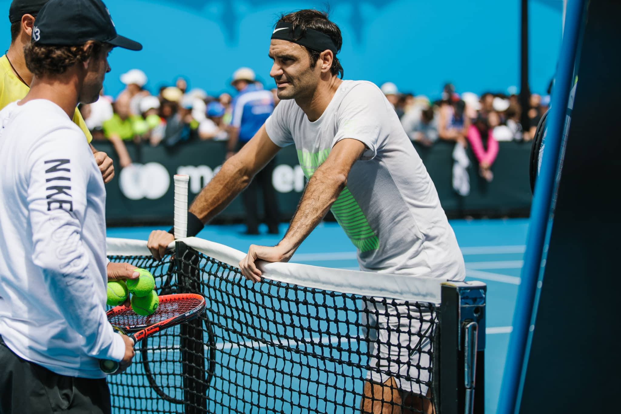 Roger Federer at the Australian open in 2018 - sports event photography