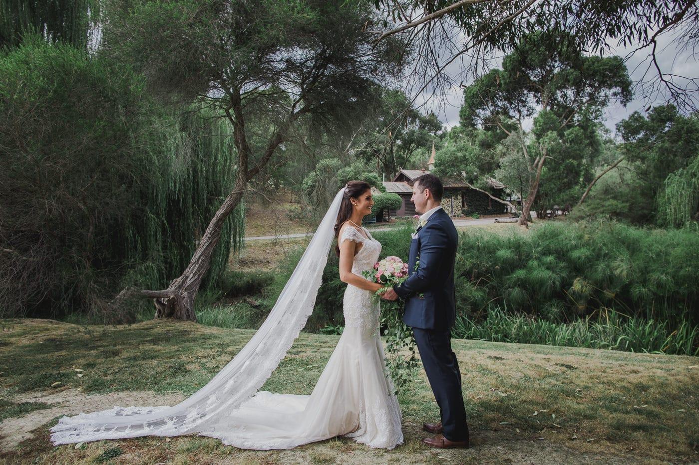 Best Wedding Photos in Melbourne - Bridal Couple in Melbourne Gardens