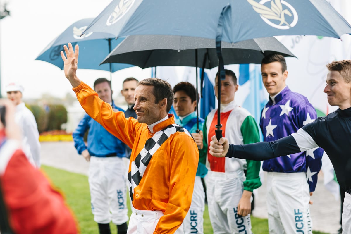 jockey before the race - behind the scenes photography