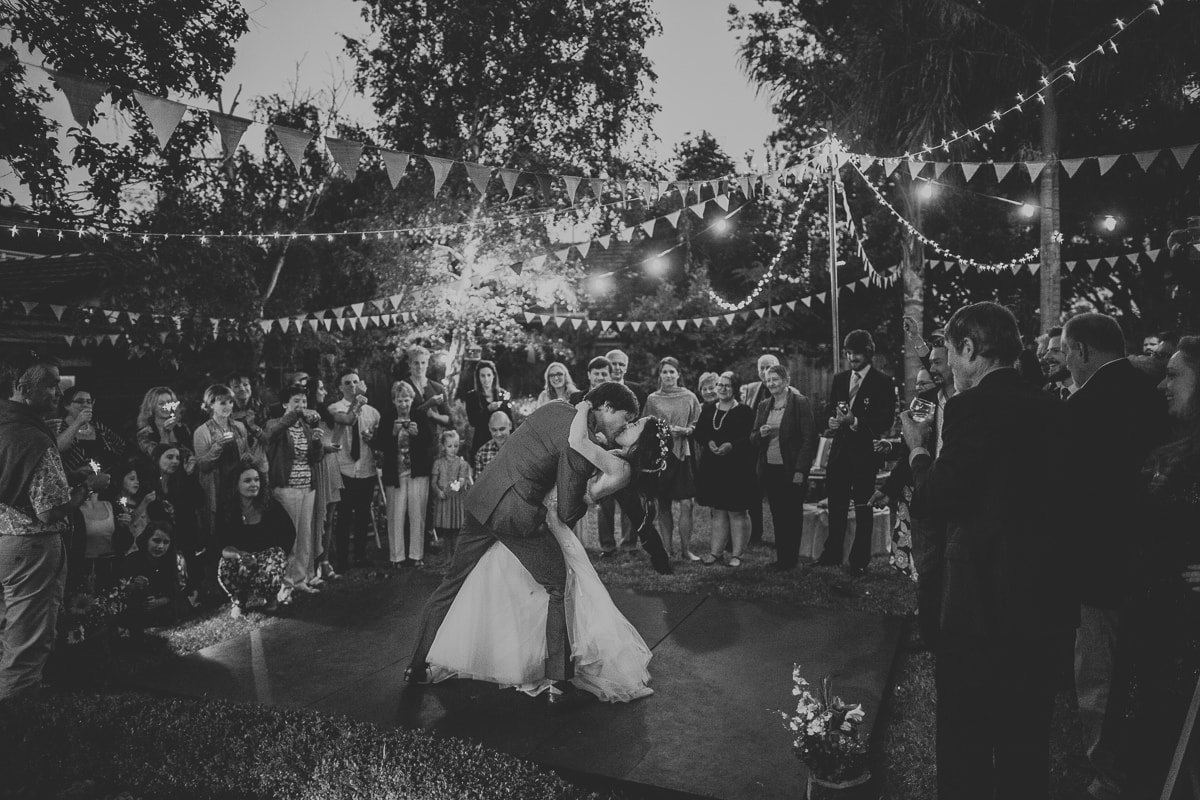 First dance in outdoor setting - fairy lights - best photography in Melbourne
