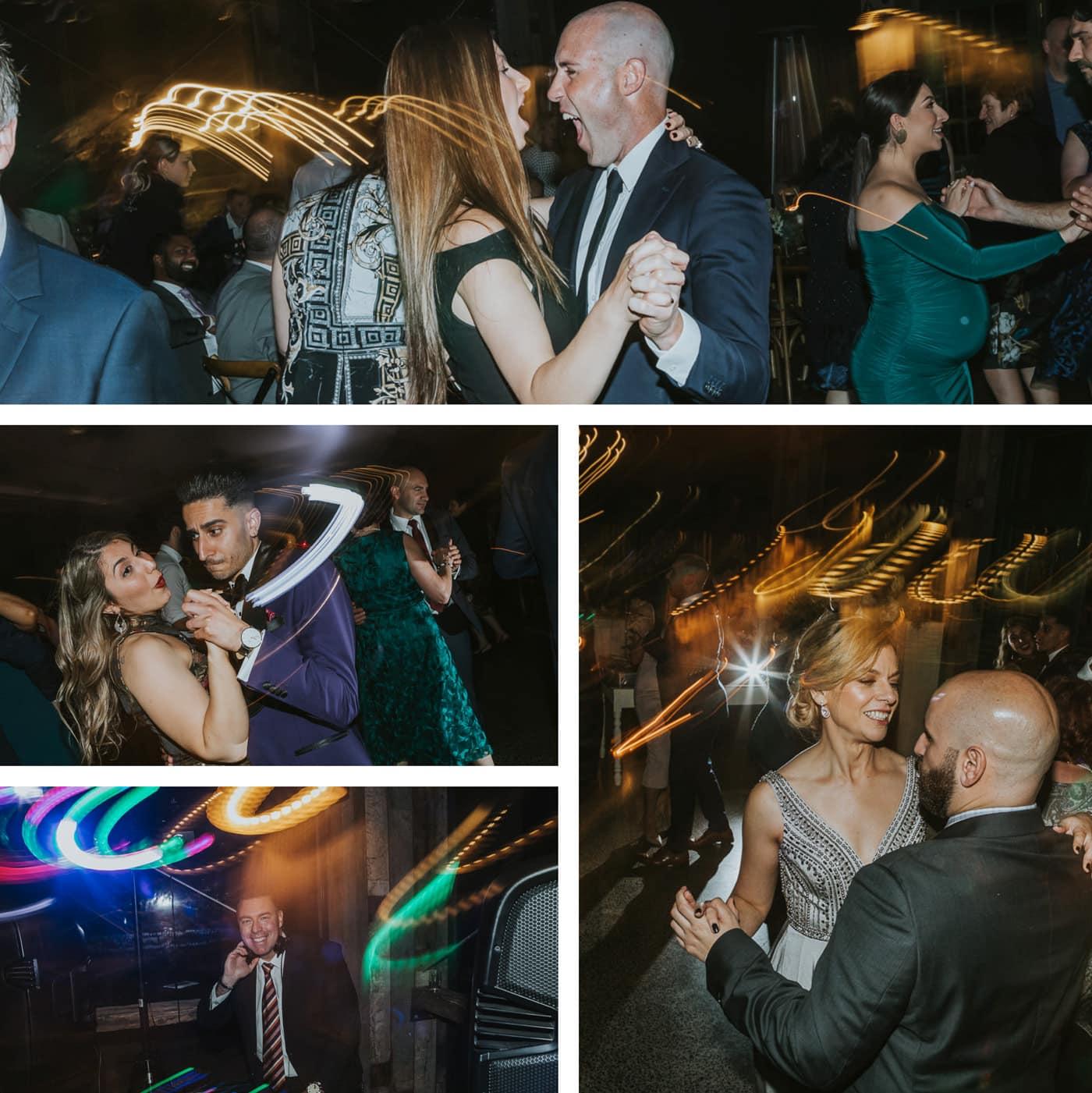 Fun dancing at wedding party