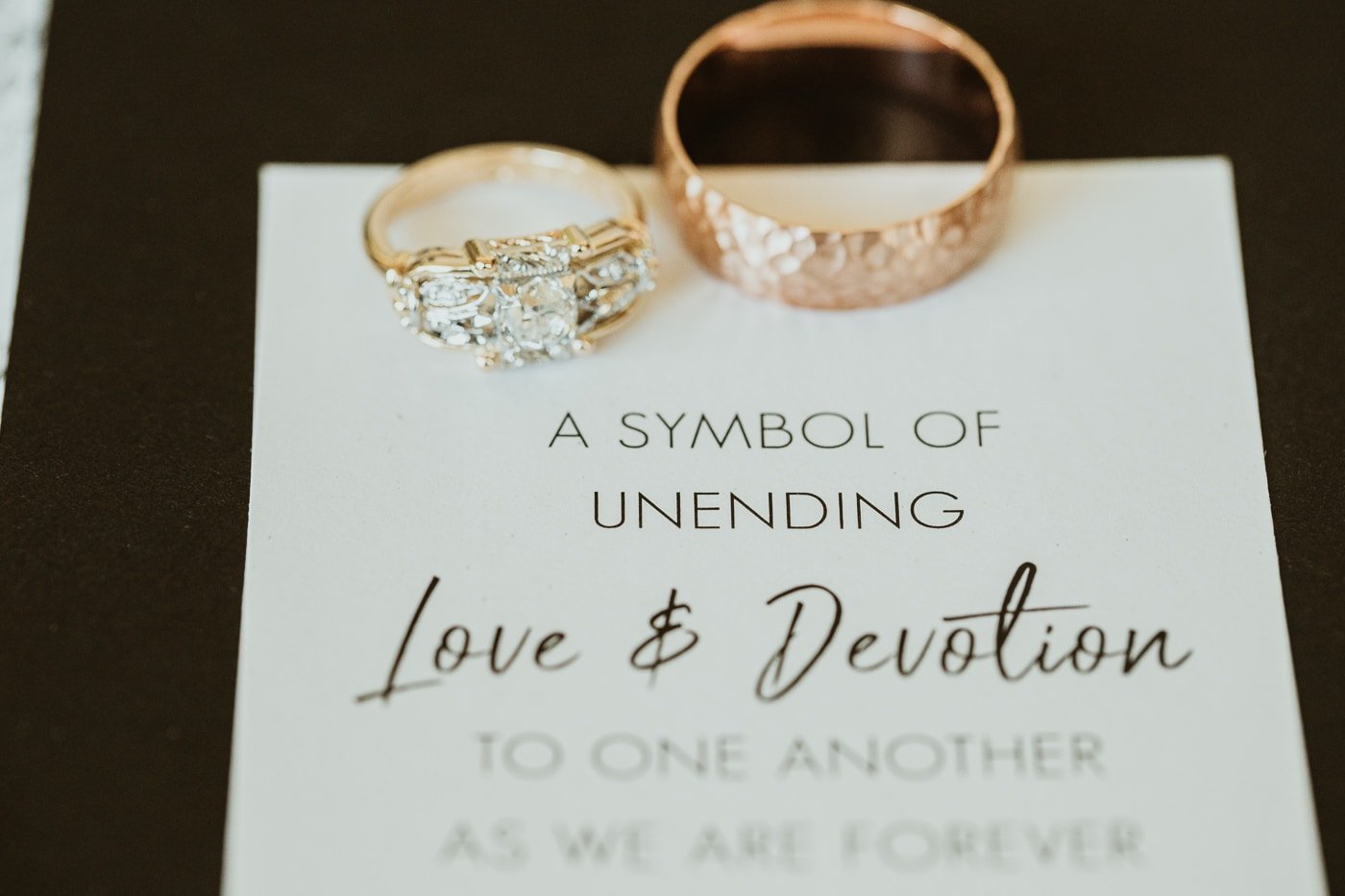 wedding ring photo - love and devotion