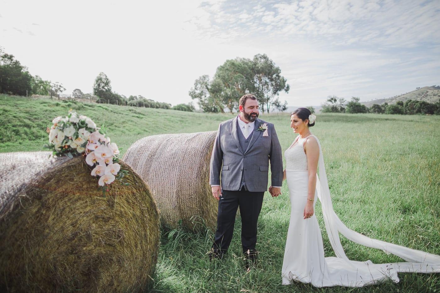 Haybales Wedding Photography - Fields around Flowerdale Estate