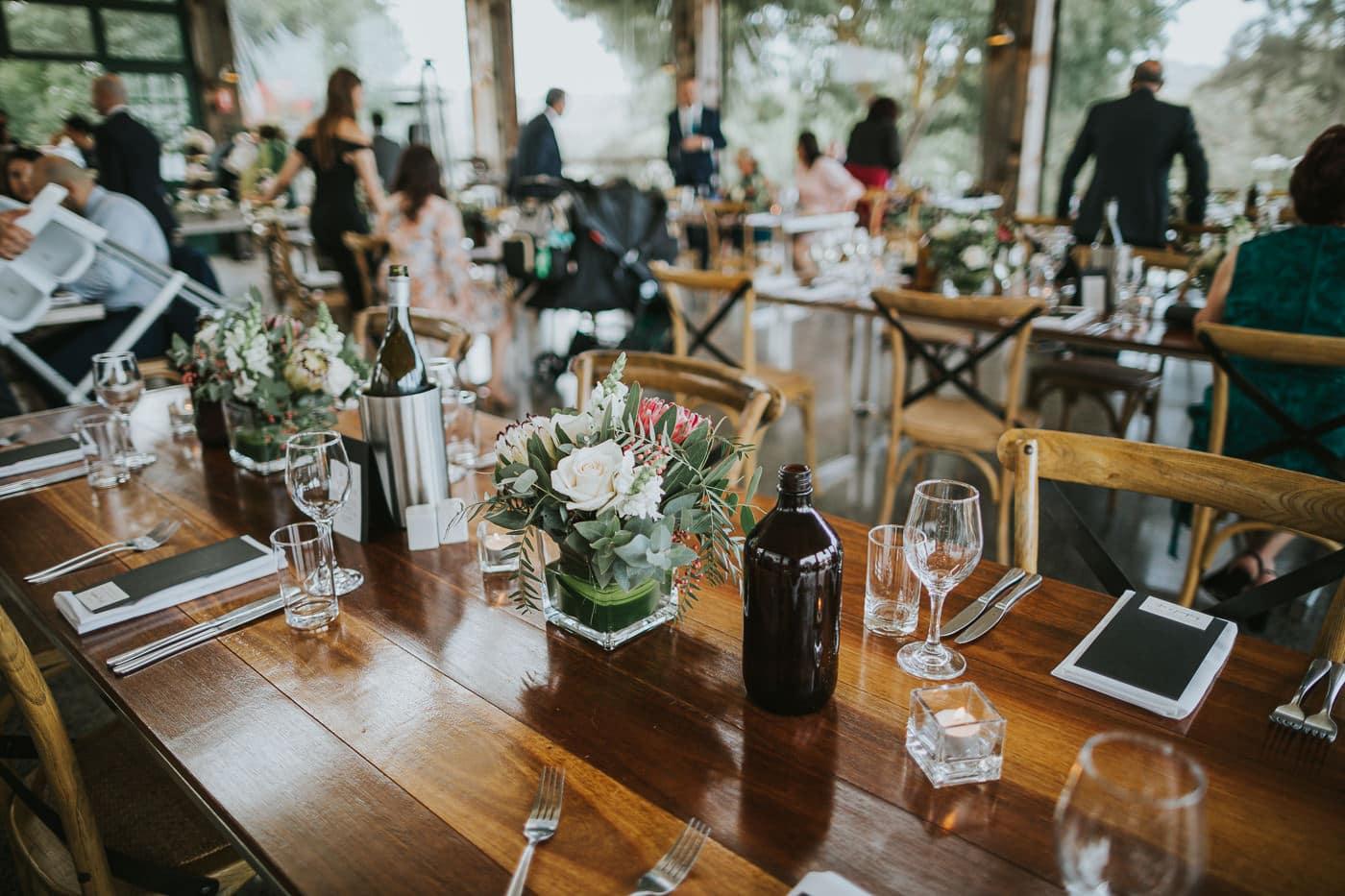 Decortaed wedding table at Flowerdale Estate