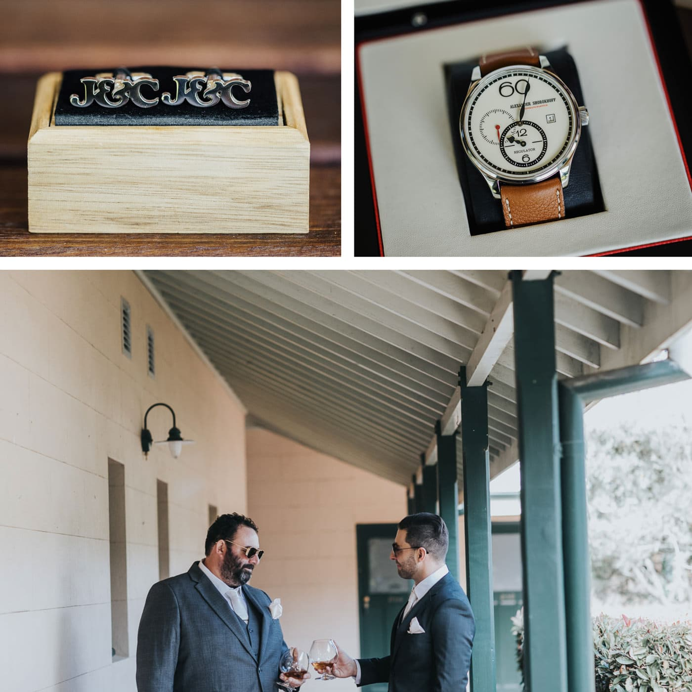 Groom and Best man getting ready at Flowerdale Estate - Wedding Photos in Country Victoria